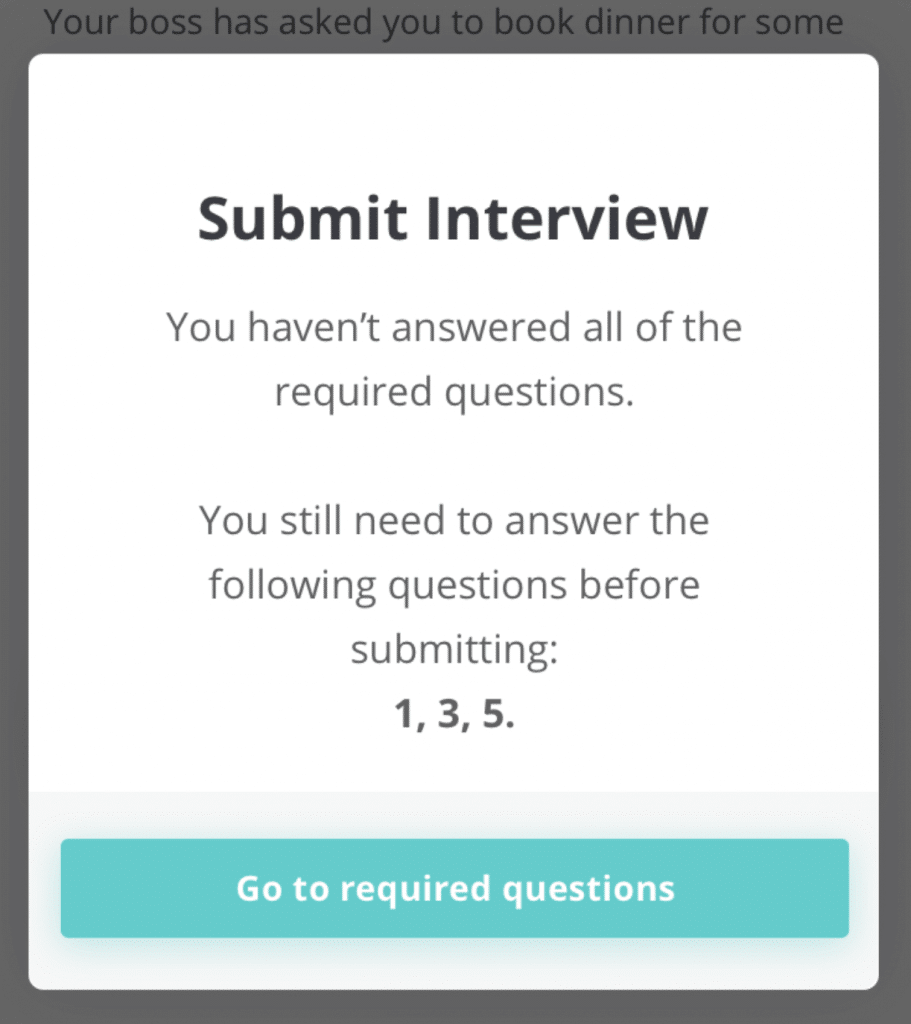 Required question