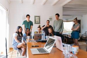 millennials brainstorming at work