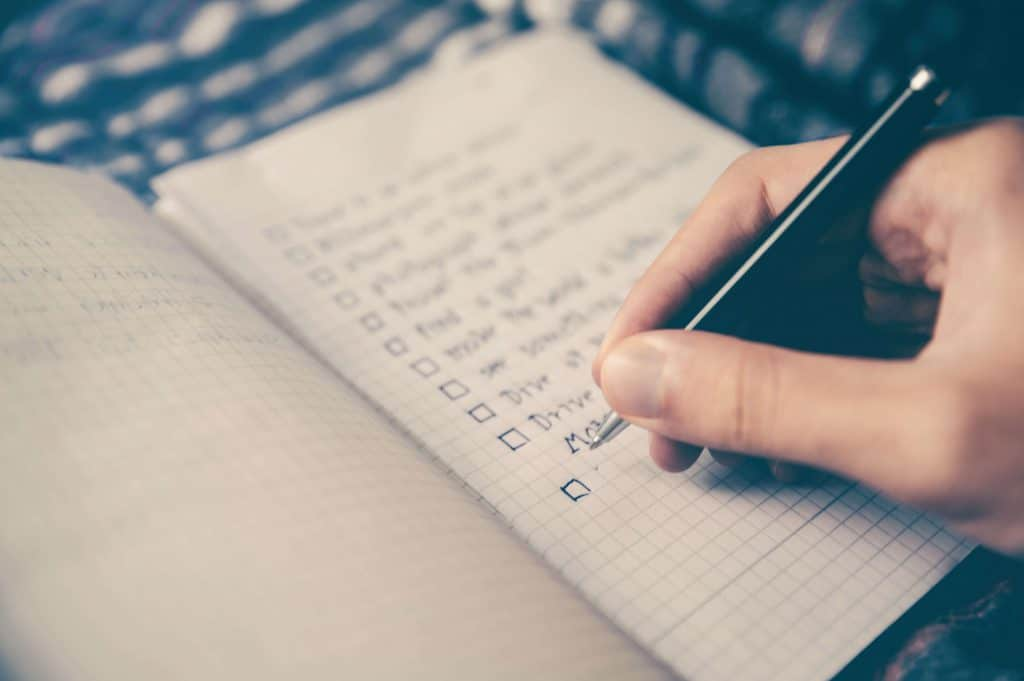 Preparing a list of questions for an interview