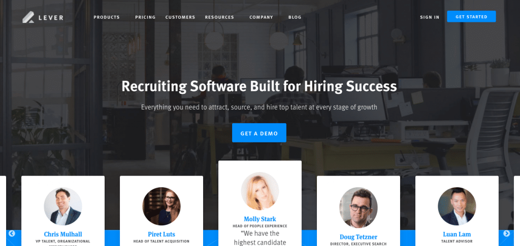 Lever remote recruiting software