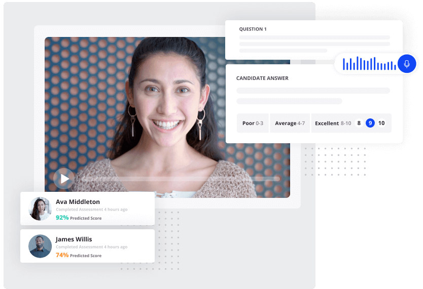 An online job audition example using vervoe.