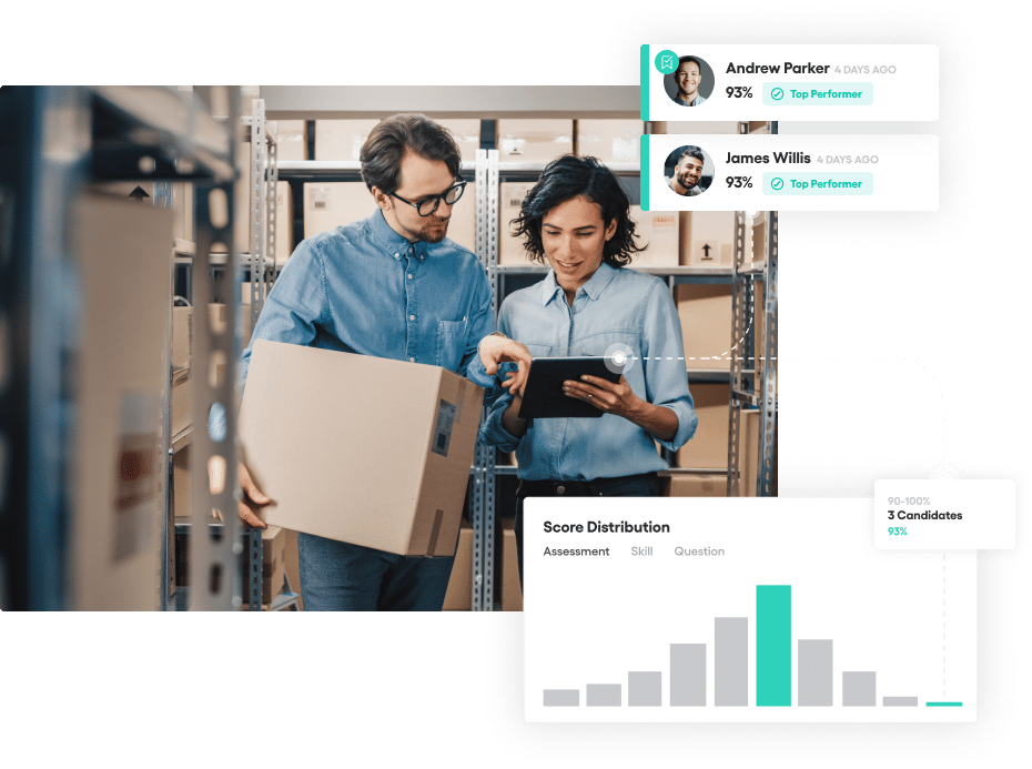 Vervoe's enterprise hiring system insight tools.
