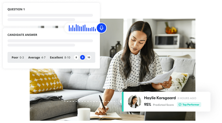 Vervoe's admin assessment tool