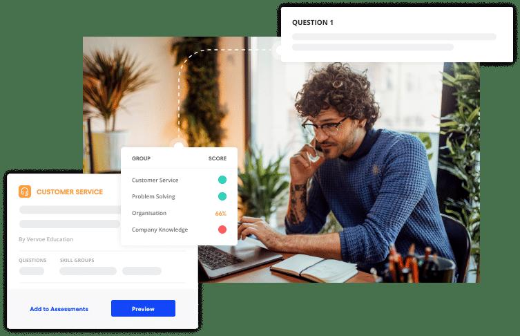 Vervoe's customer service hiring software