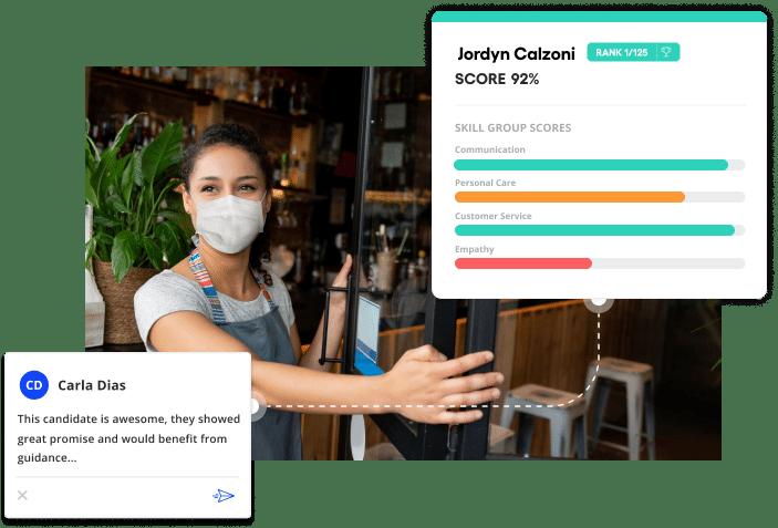 Vervoe's hospitality hiring software