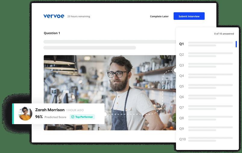 Vervoe's hospitality recruitment software
