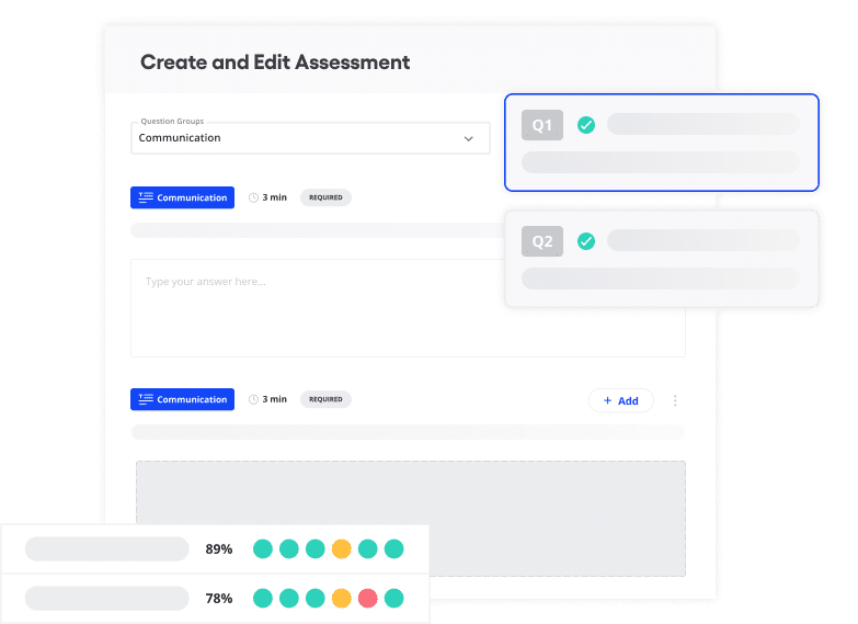 Vervoe's create and edit assessment product feature