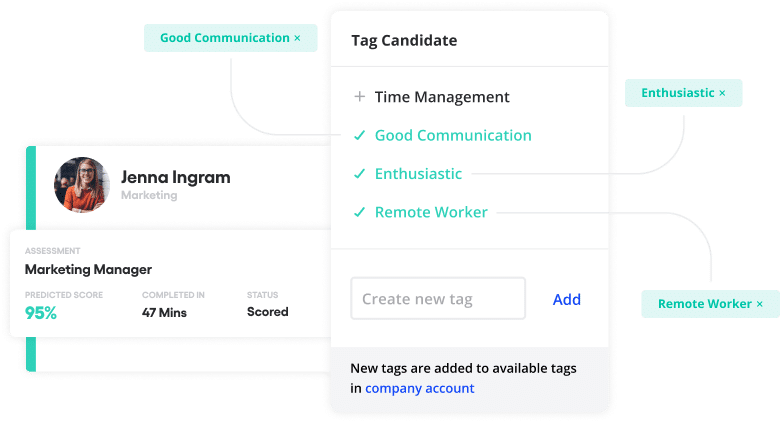 Vervoe's tag candidate product feature