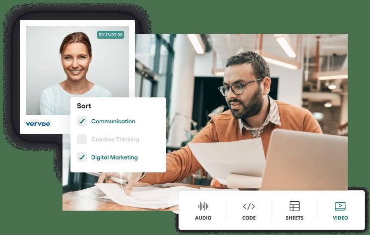 Vervoe's assessment software for marketing