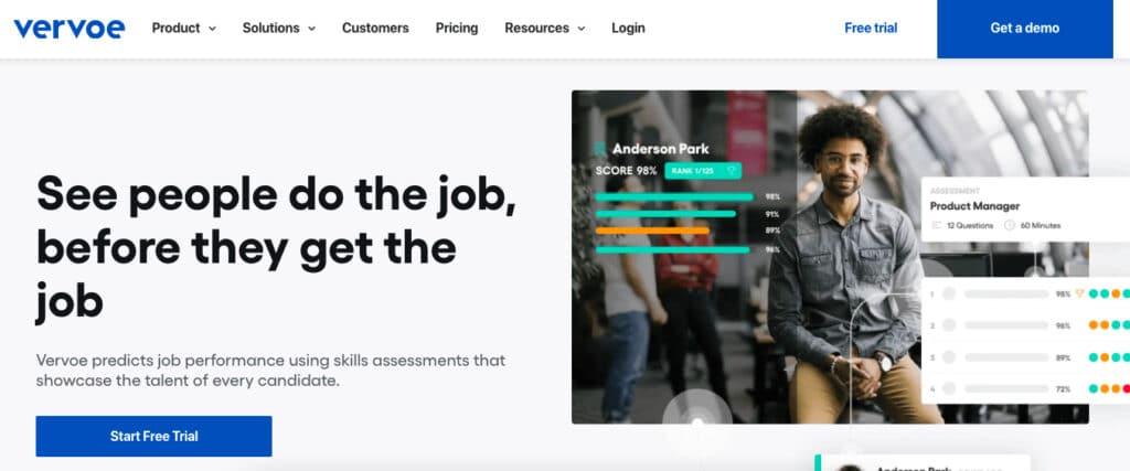 Vervoe's blind hiring software