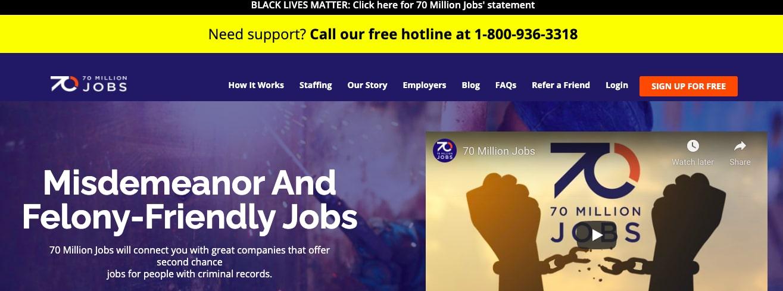 70 million jobs felon job board