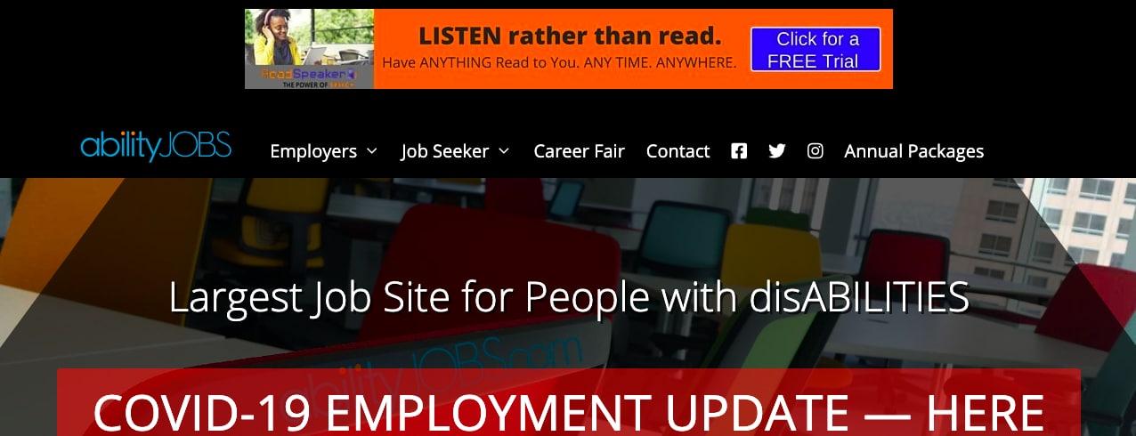 Abilityjobs disability employment job board