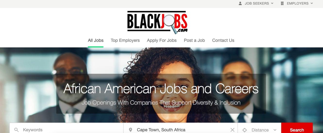 Blackjobs. Com minority job board