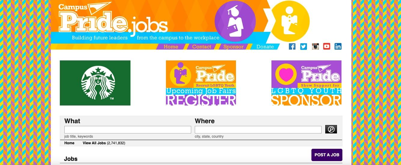 Campus pride lgbtq job board