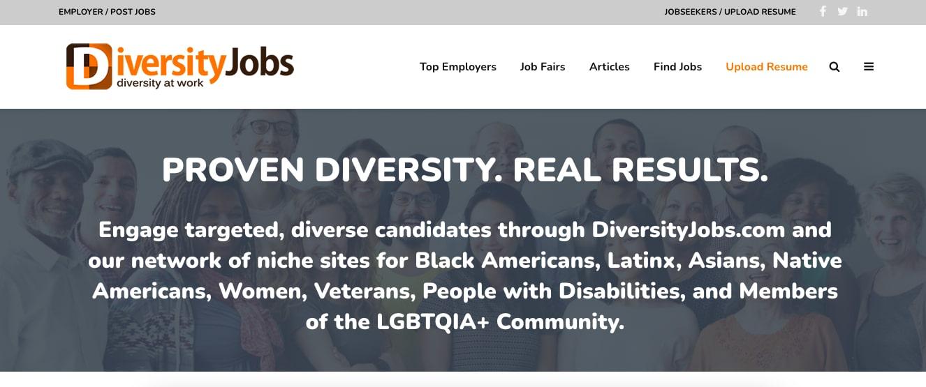 Diversityjobs workplace diversity job board