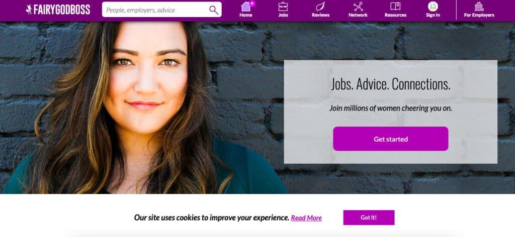 Fairygodboss female job boards