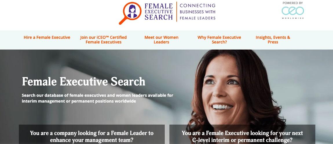 Female executive search female job boards