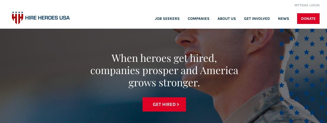 Hire heroes usa veteran job board