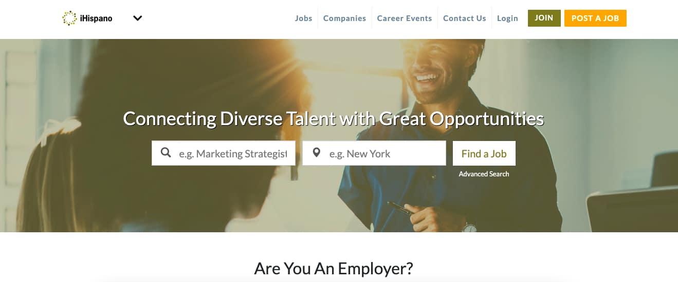 Ihispano minority job board