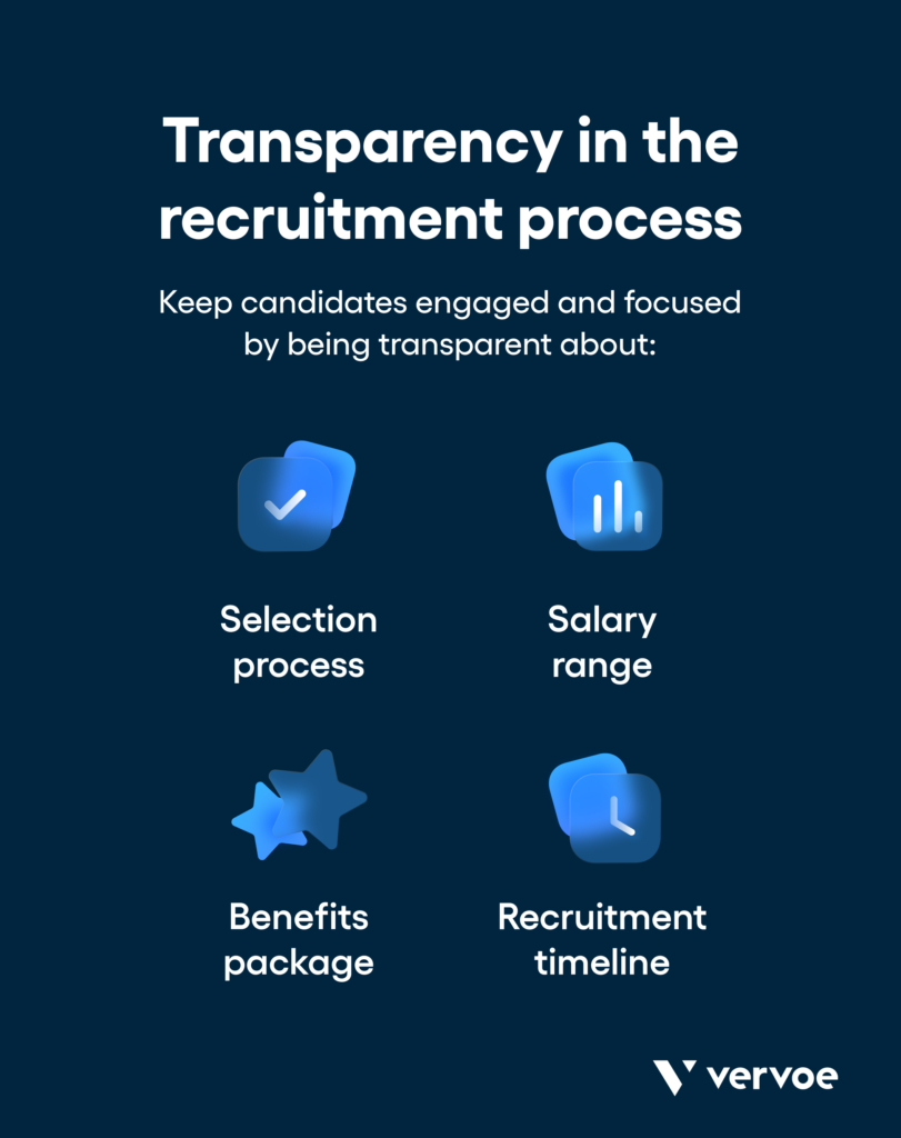 Transparency in the recruitment process