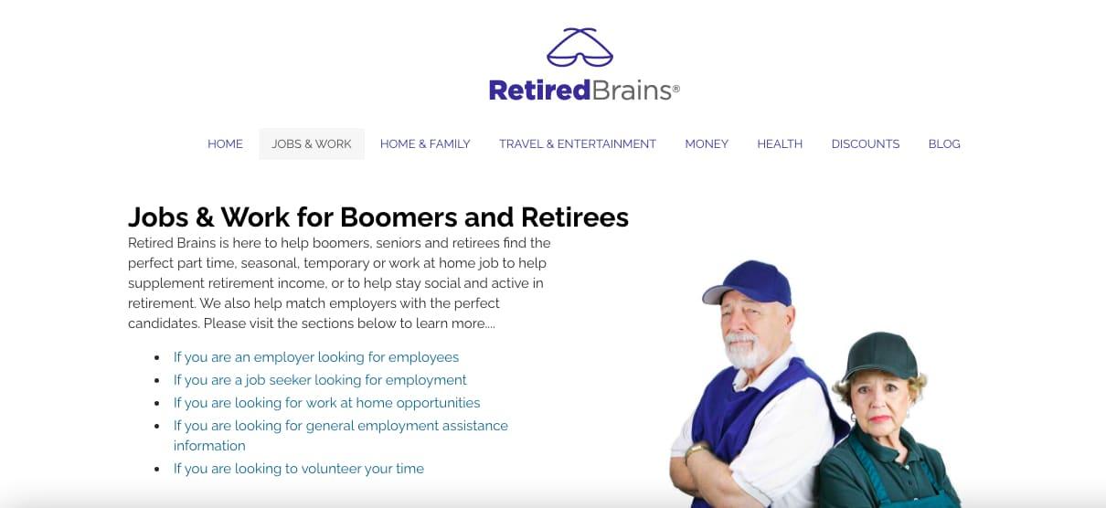 Retired brains retirement job board