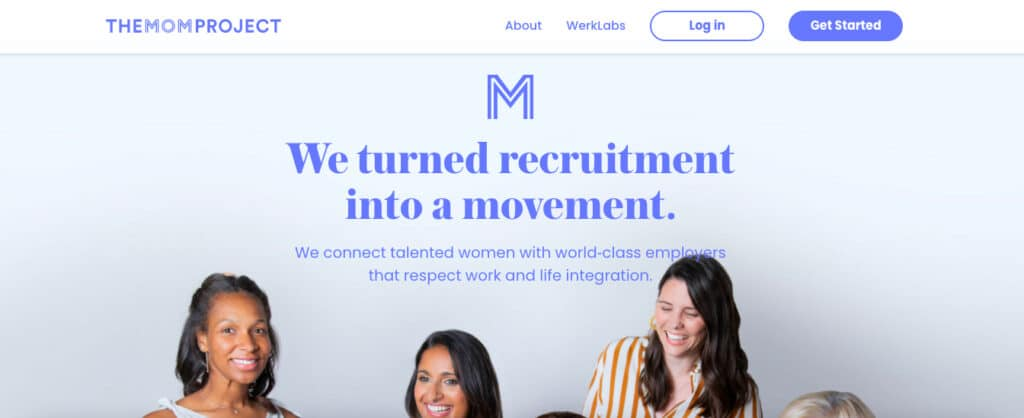 The mom project  female job board
