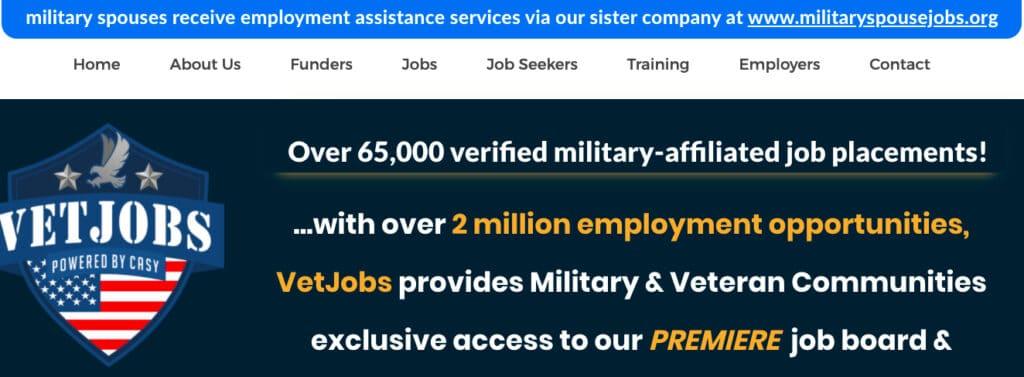 Vetjobs veteran job boards
