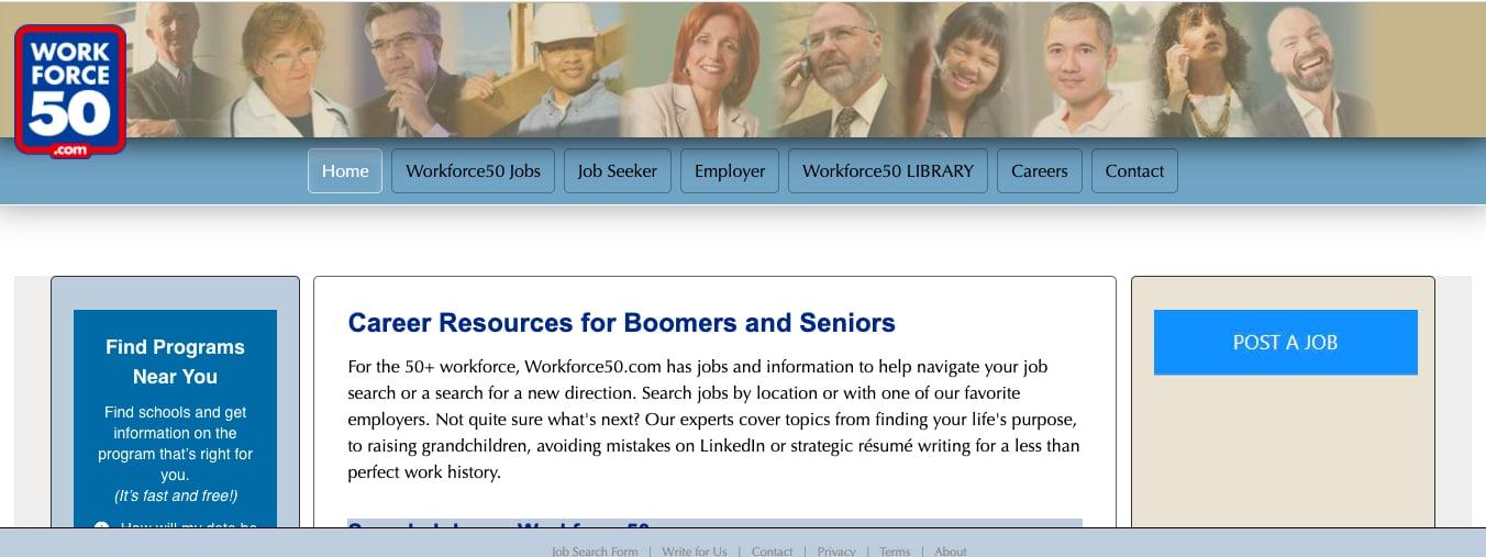 Workforce50 retirement job board