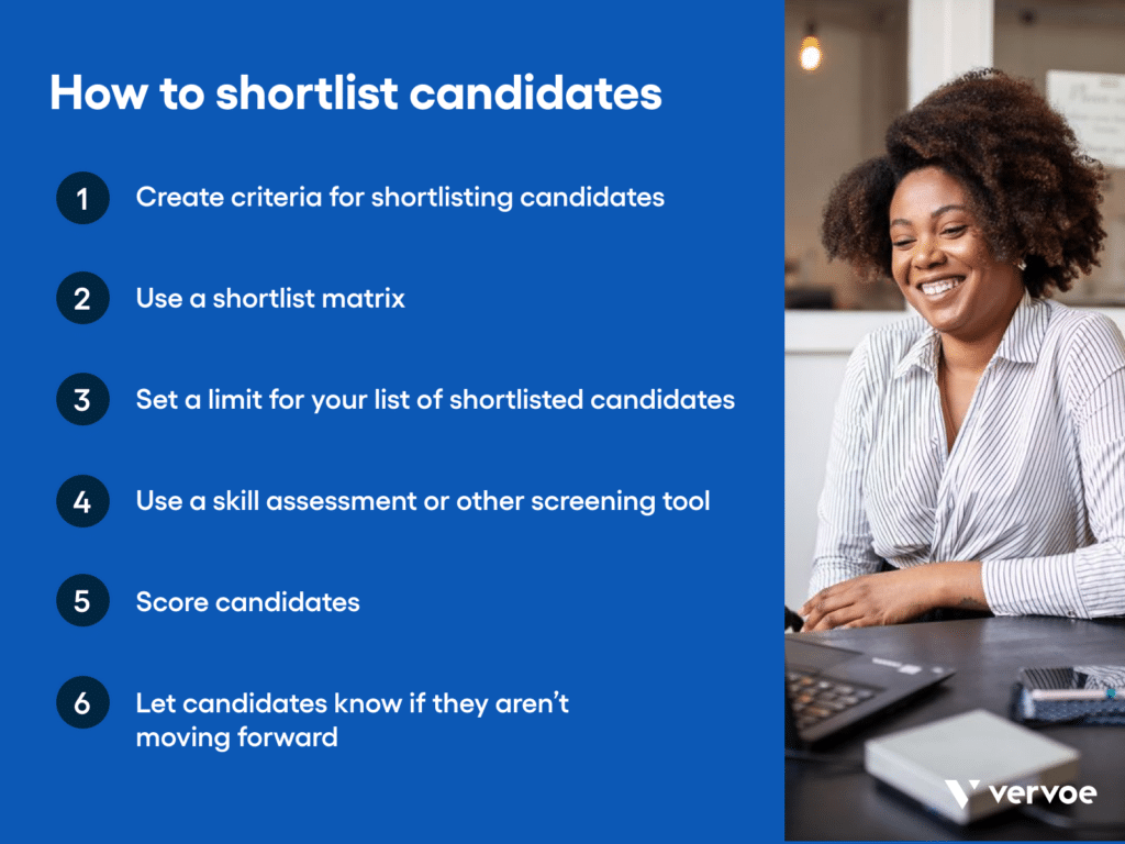 How to shortlist candidates