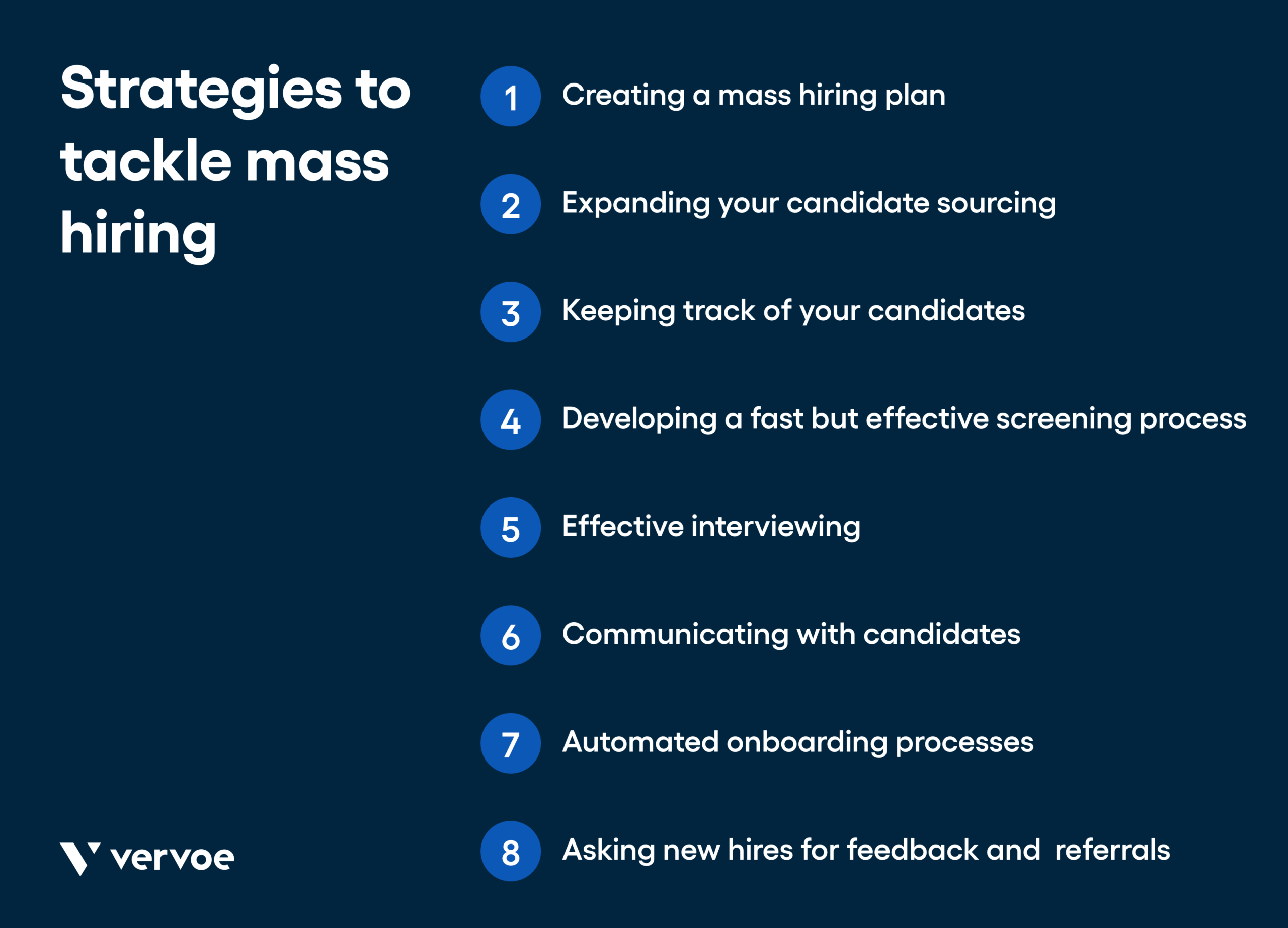 Infographic showing strategies of mass hiring