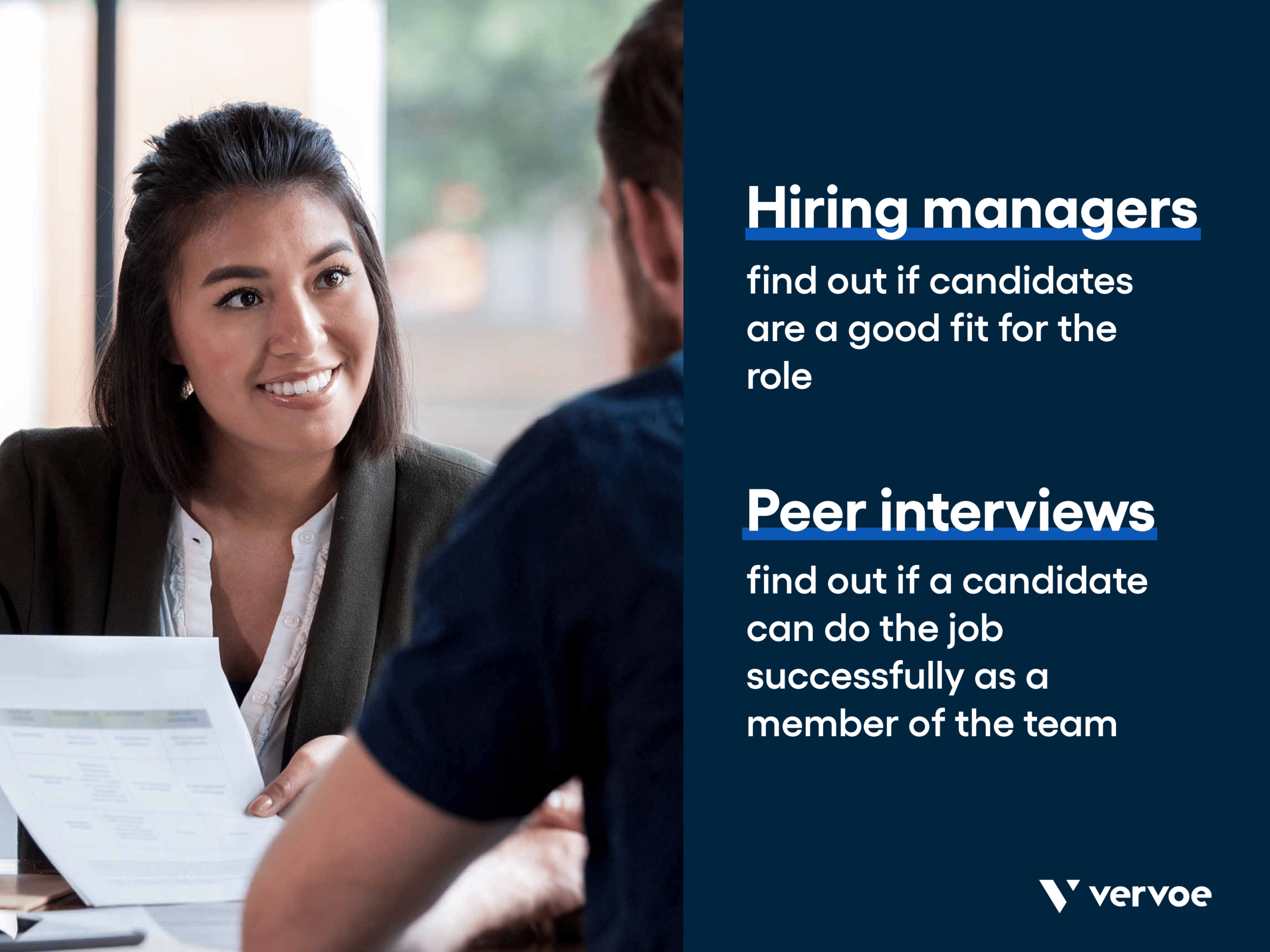 The difference between the role of hiring managers and peer interviewing
