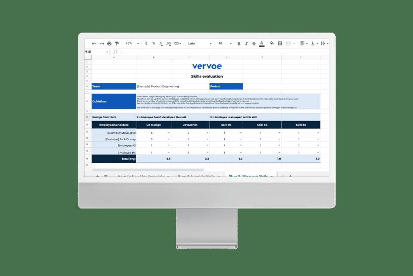 Skills gap analysis template 1