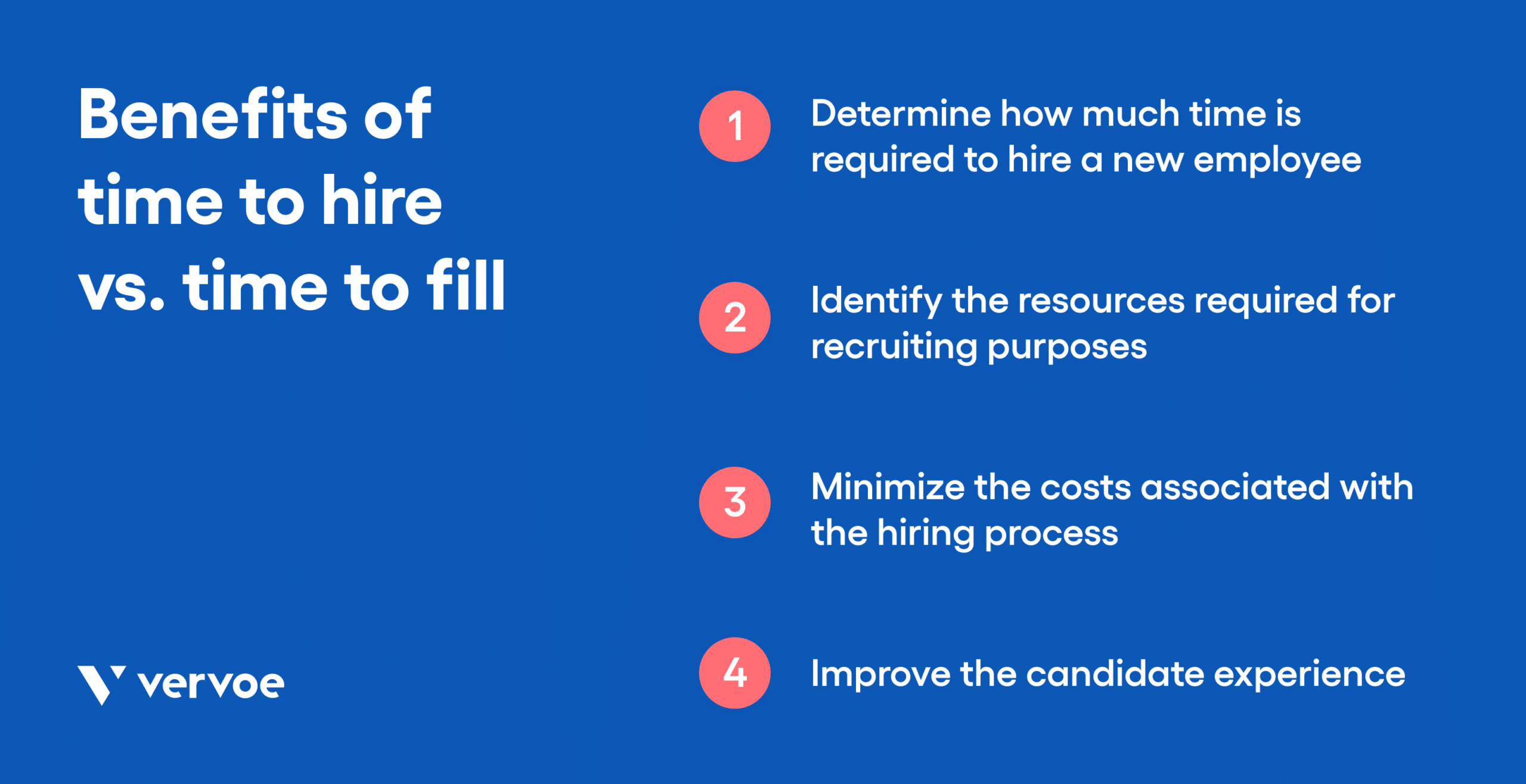 Graphic showing the benefits of time to hire vs time to fill