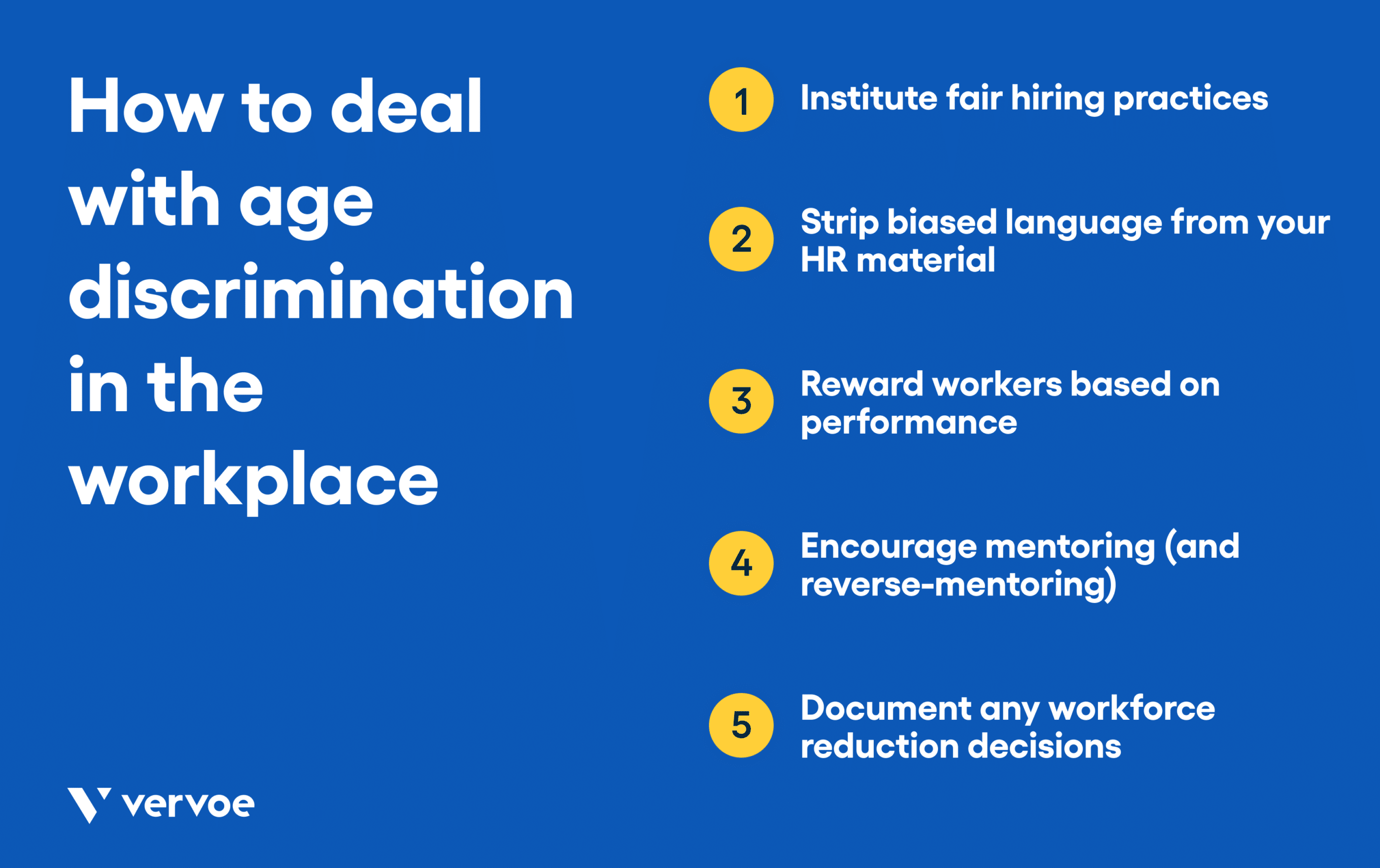 List of tips for dealing with age discrimination in the workplace