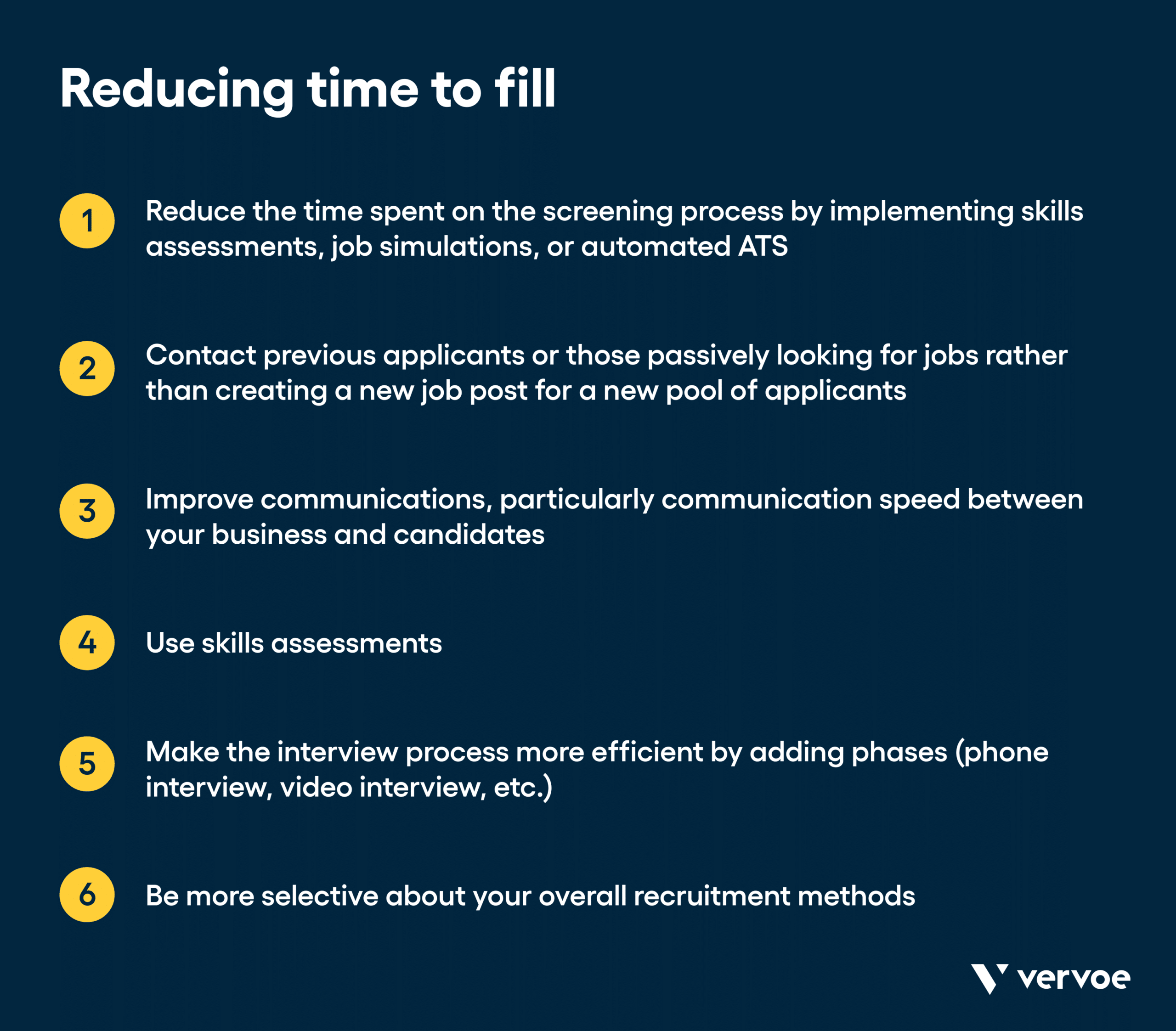Graphic showing how to reduce time to fill